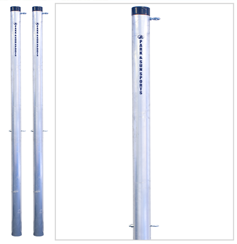 4000 pole set professional grade outdoor volleyball poles park