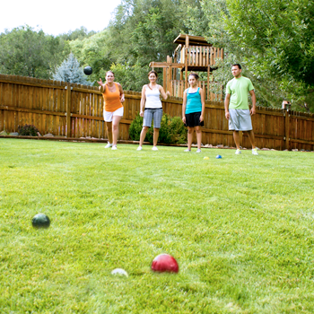 Quality Outdoor Family Bocce Game For Backyard Lawn Beach And More Four Color 100mm Balls Pallino And Equipment Carrying Case Park And Sun Sports