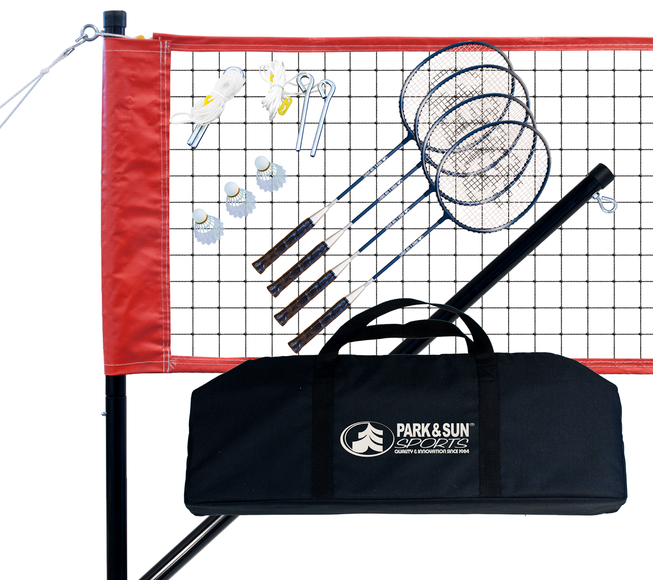Park and Sports red Badminton Sport Product Layout