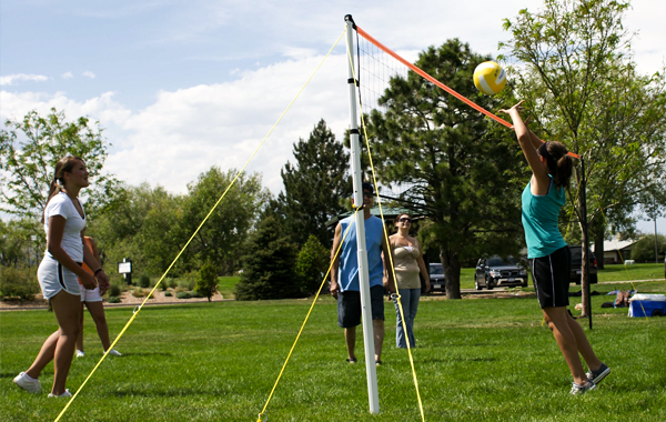Competitive Outdoor Beach and Grass Volleyball Net System