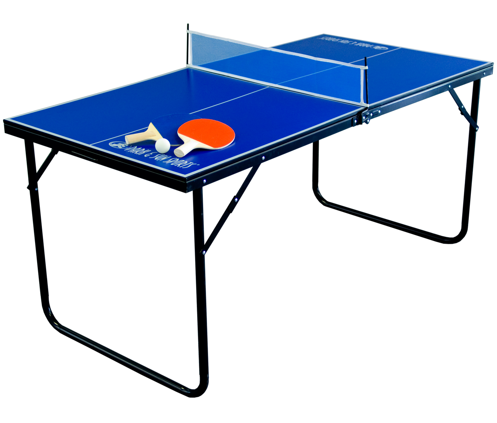 Complete folding mini table tennis includes 2 paddles and for Table tennis