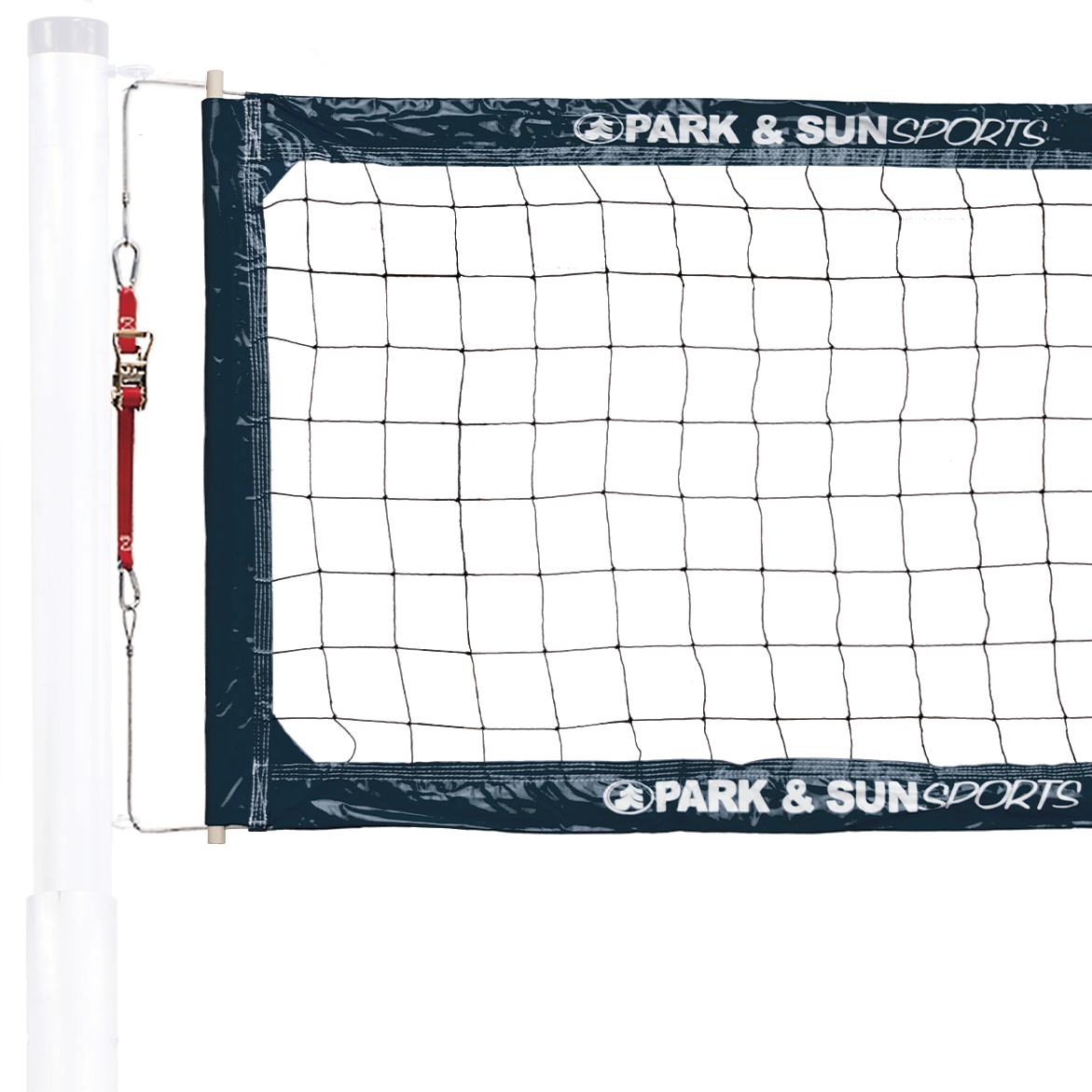 BC 400 Navy Volleyball Net with ratchet