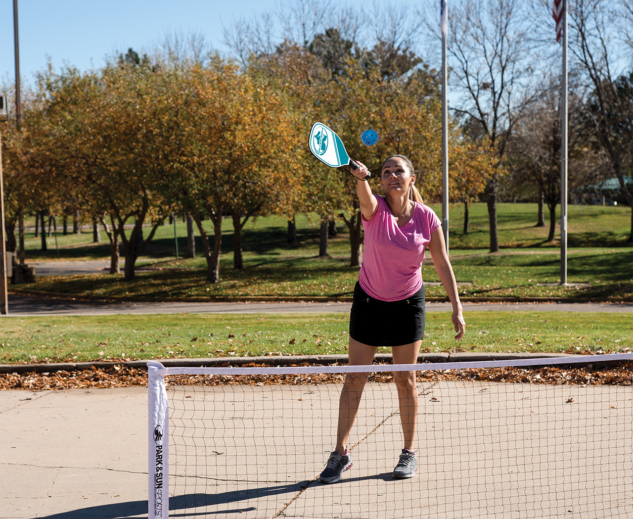 Park and Sports Pickleball Action