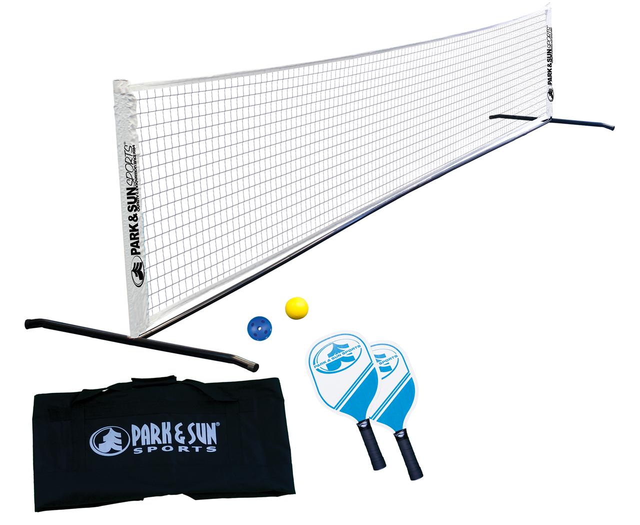 15 Ft Portable Pickleball Set Tennis Combo 2 Paddles Steel Frame 2 Pickleballs Net Park And Sun Sports