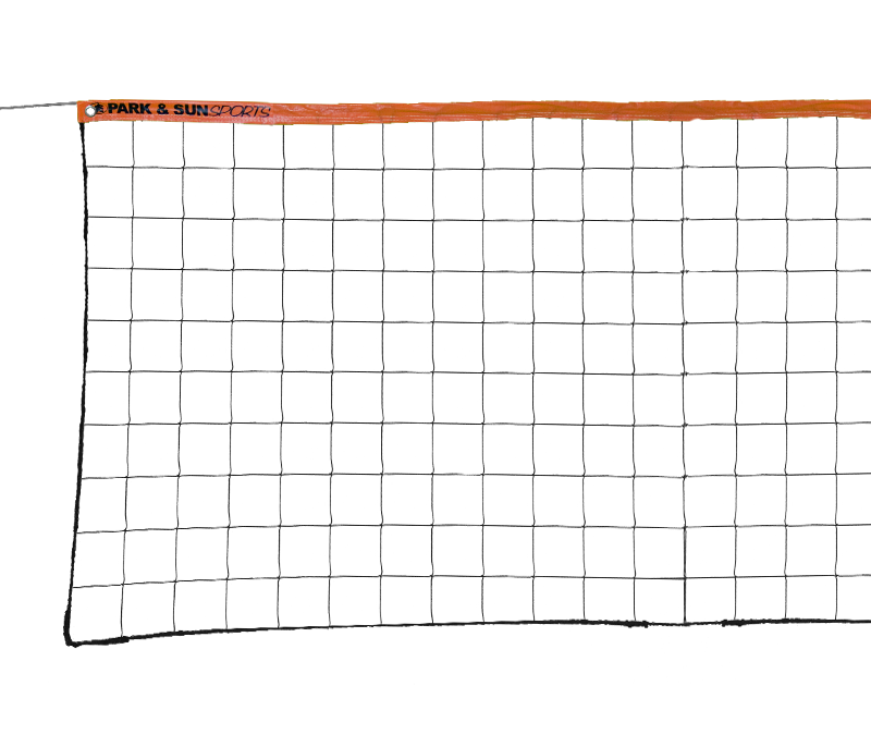 Park and Sports Orange VN-3 Steel Cable Outdoor Volleyball Net