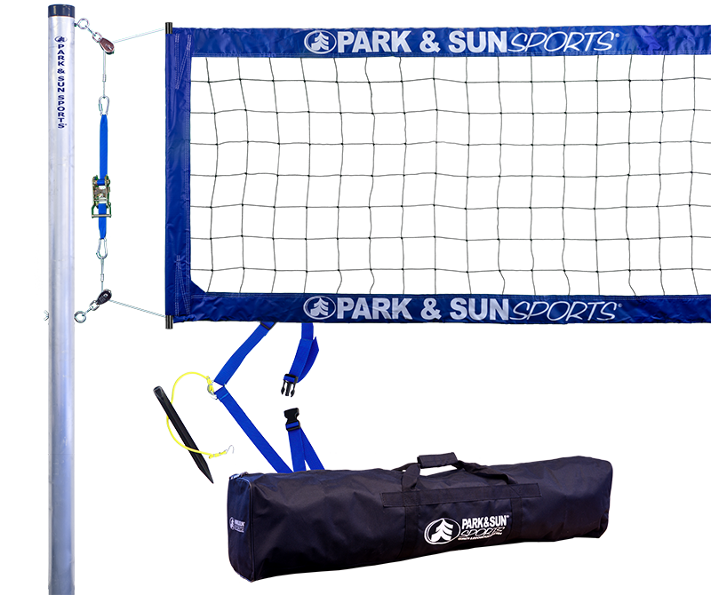 Park and Sports Blue Tournament 4000 Complete Outdoor Volleyball System