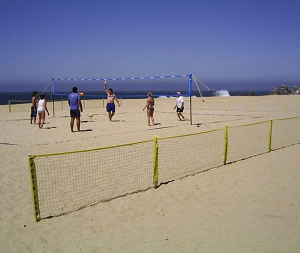 Park and Sports Sport Fence Portable Ball Stop and Enclosure on beach