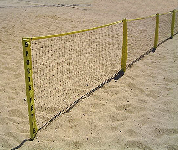 Park and Sports Sports Fence Ball Stopper on beach