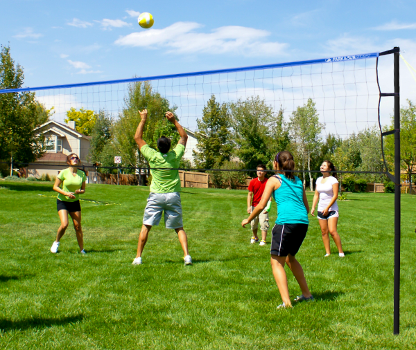 Park and Sports Blue Tournament Level grass volleyball Set