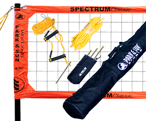 Park and Sun Sports Orange Spectrum Classic Volleyball System