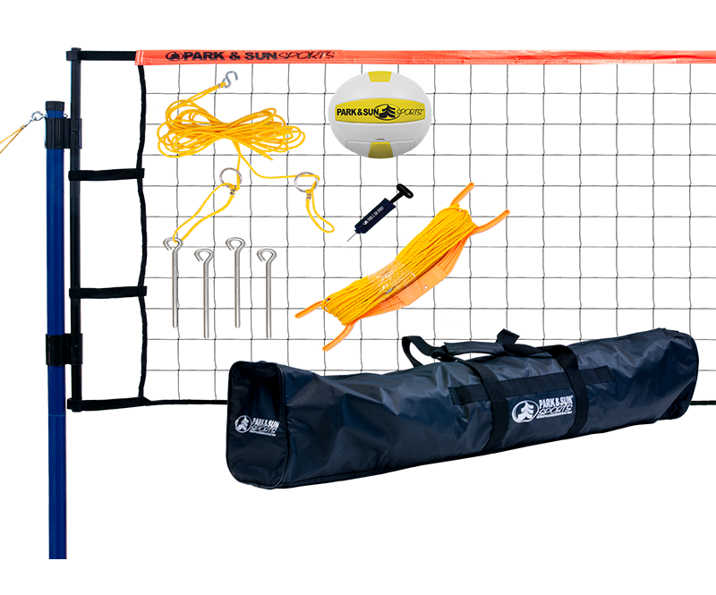 Park and Sports Orange Tournament Flex Volleyball set layout