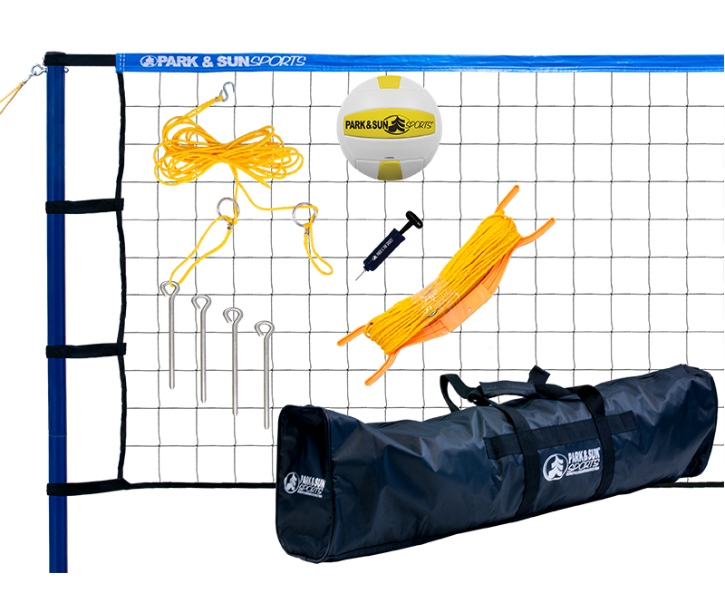 Park and Sports Blue Spiker Sport Blue Outdoor Volleyball Set Product Layout