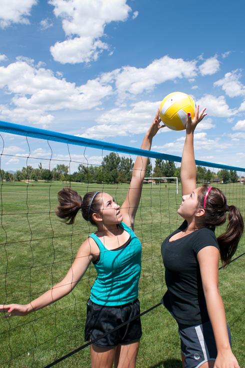 Outdoor Volleyball Net System - Spiker Sport Steel - Park ...
