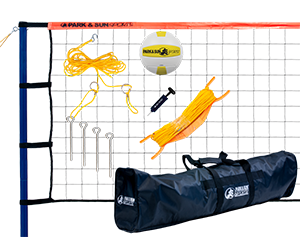 Park and Sun Sports Orange Spiker Sport Steel Volleyball System