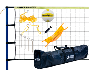 Park and Sun Sports Yellow Spiker Sport Steel Volleyball System