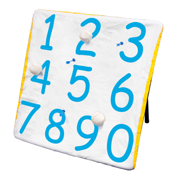 Park and Sports Toss and learn velcro ball, dart target, numbers