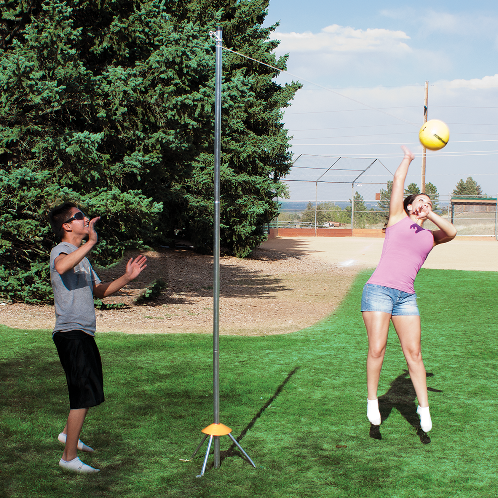 Quality Outdoor Tp Portable 3 Piece Portable Tetherball