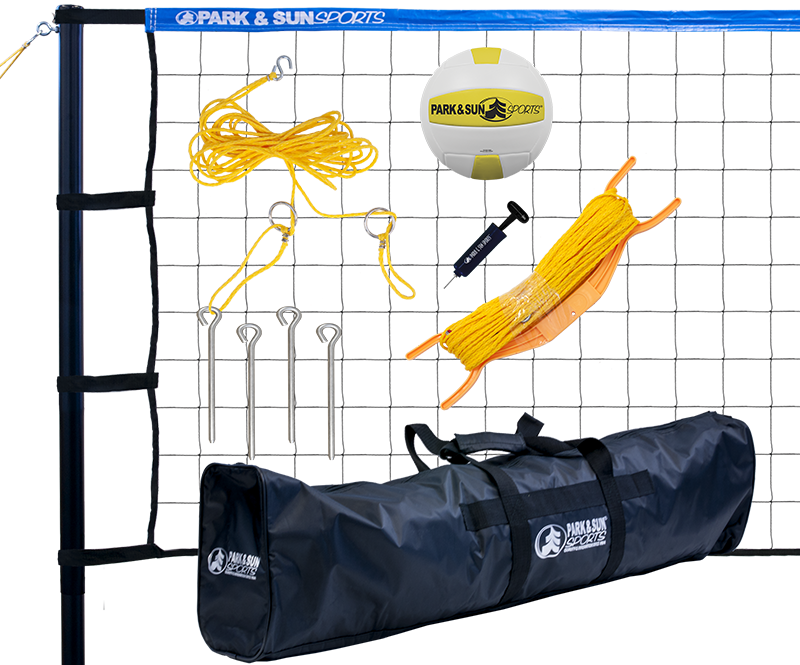 Park and Sports Blue Tournament 179 Volleyball Set Product Layout