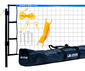 Park and Sun Sports Blue Tournament Flex Volleyball Net System