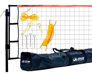 Park and Sun Sports Orange Tournament Flex Volleyball Net System