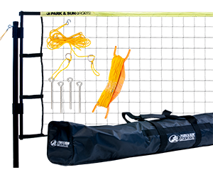 Park and Sun Sports Yellow Tournament Flex Volleyball Net System