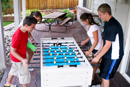 Park and Sun Sports - Outdoor Game Table Series - Blue Sky Soccer Tables