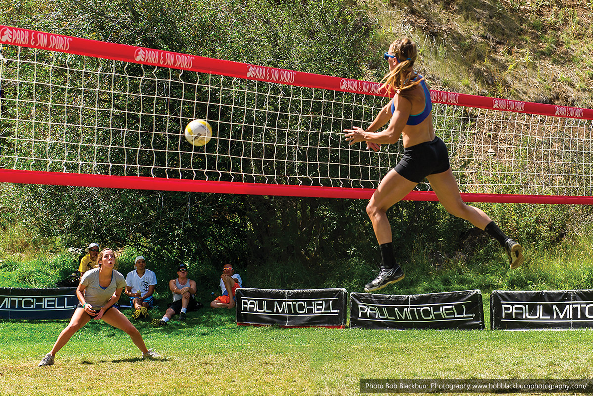 Motherlode Classic volleyball tournement - womens grass, spiking volleyball