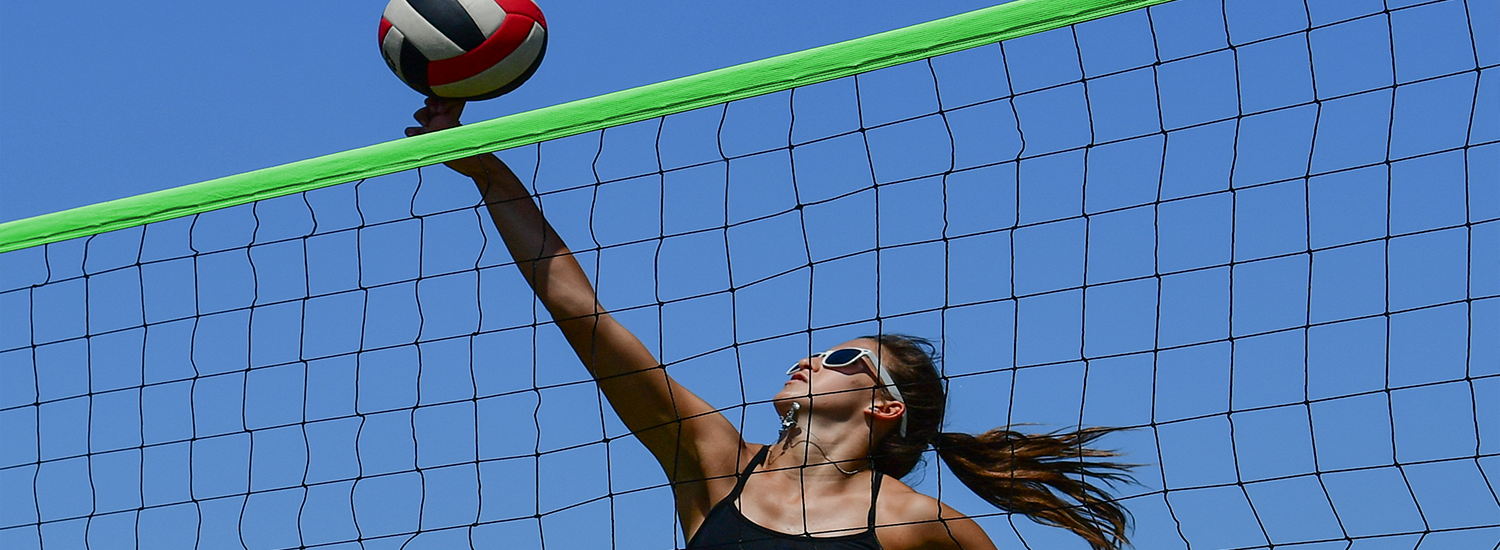 Park and Sun Sports girls volleyball green net