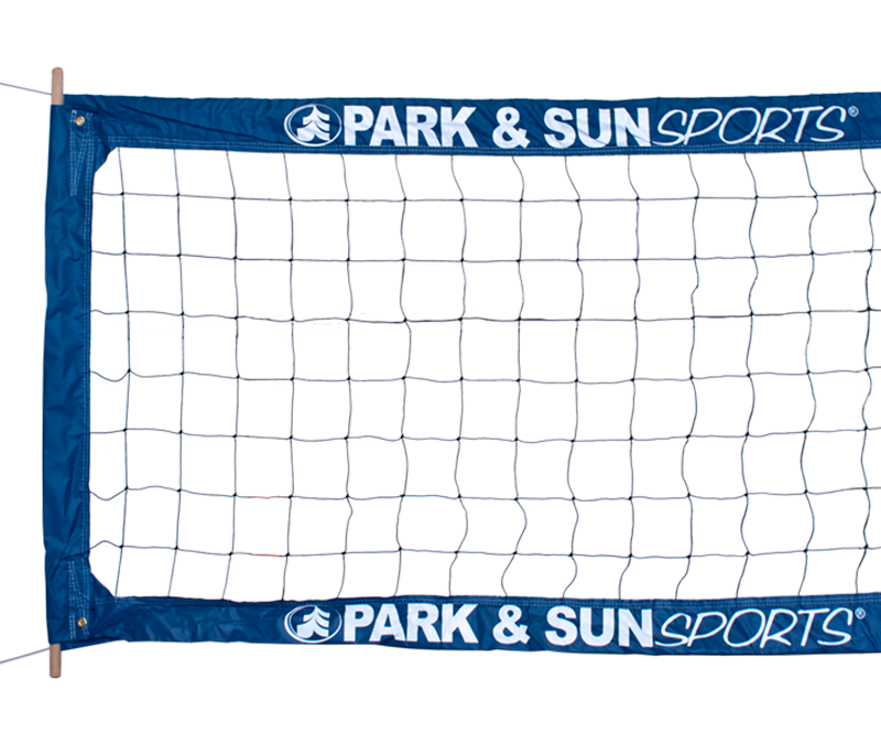 Park and Sports Blue Professional Outdoor Steel Cable Volleyball Net