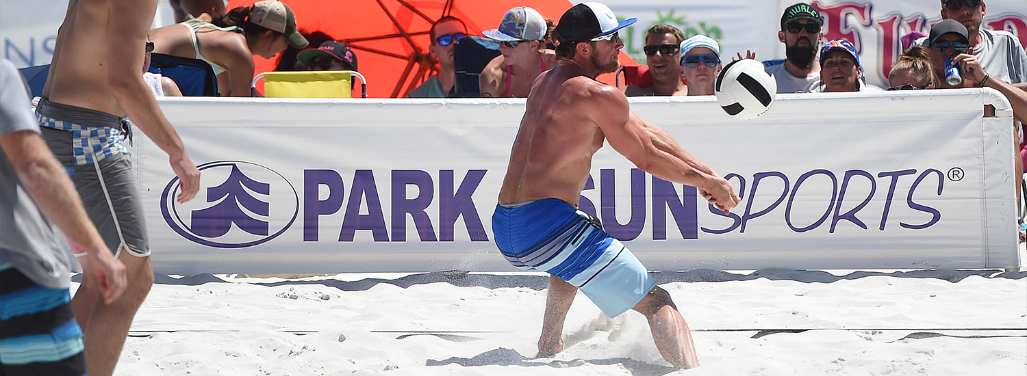 Park and Sun Sports professional beach volleyball court boundaries