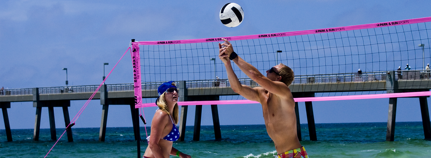 Pink Spectrum 2000 beach volleyball set