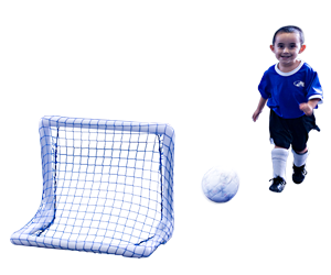Park and Sun Sports - 2ft Micro Folding Multi-Sport Goals Action